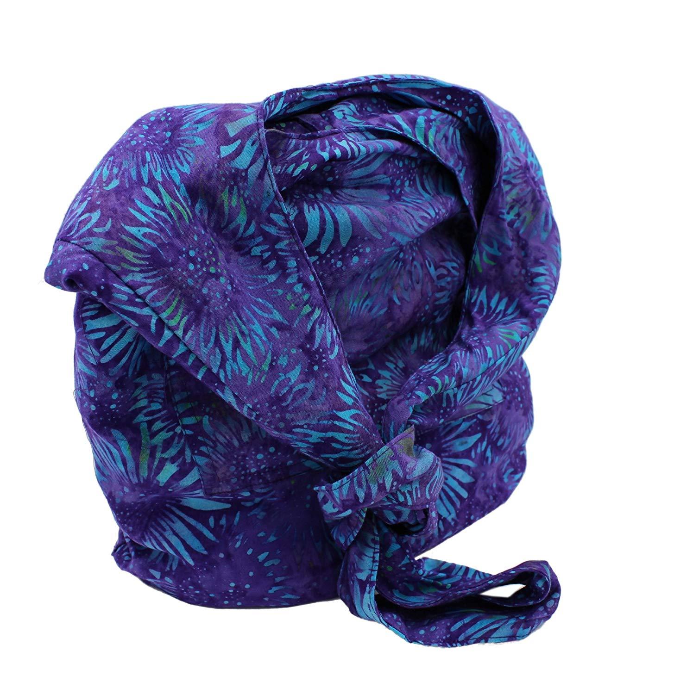 Slouchy Boho Shoulder Bag, Purple & Blue Sunflower Sling Purse, Cross Body