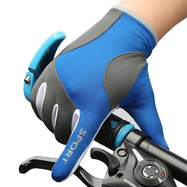 OEM Outdoor Running Bike Riding Ice Silk Fabrics Sport Gloves Outdoor Riding Breathable Sports Gloves