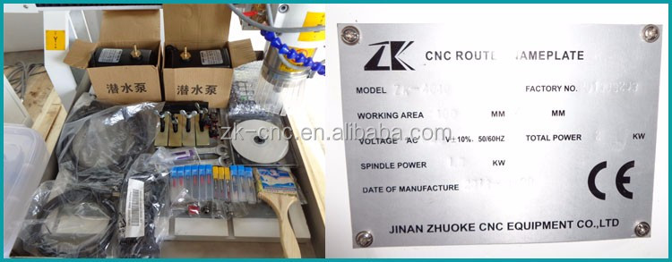 Mini desktop 4 axis metal cnc router machine ZK-4040 linear round guide rail stepper motor DSP offline controller