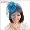 blue decorative mini top hat headband