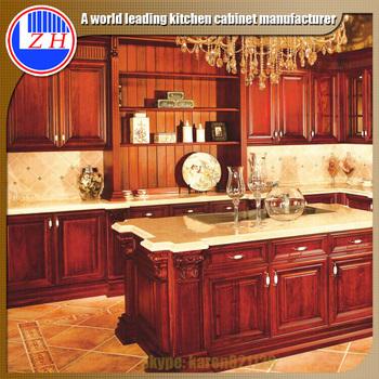 Bangladesh Project Wood Veneer Laminate Solid Wood Kitchen Cabinet