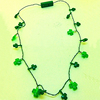 2019 New Style Led Green Flashing Shamrock Necklace