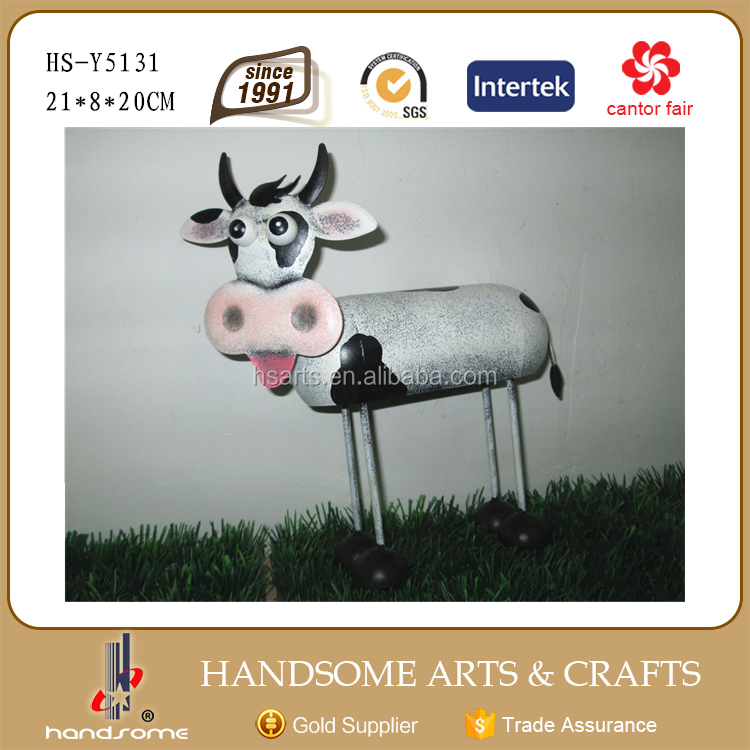 21 cm de jardin en m tal ornement home decor vache statue. Black Bedroom Furniture Sets. Home Design Ideas