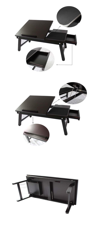 Laptop Tablett Bett Bambus Schoss Faltender