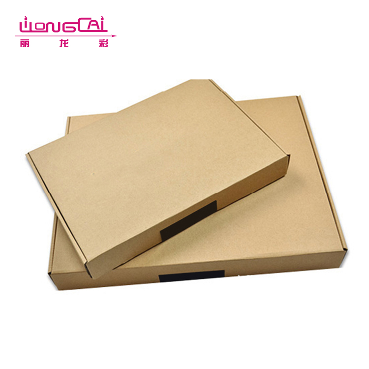 OEM printing logo brown corrugated paper folding clothing apparel packaging box