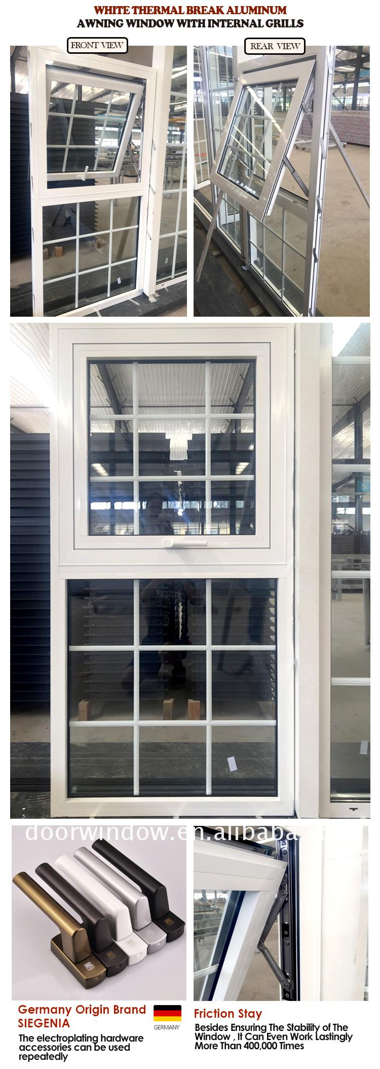 Factory wholesale aluminium awning window design style triple glazed windows opening
