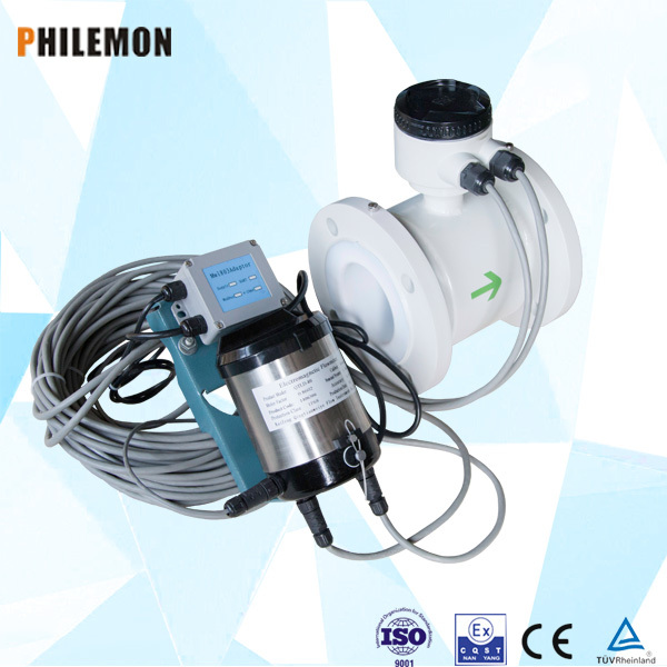 Intelligent electromagnetic in line Type insertion type flowmeter