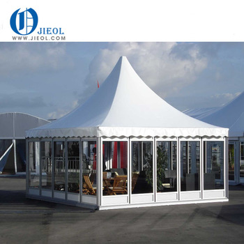 China Outdoor Sun Shade Motorized Pagoda Patio Umbrella Tent
