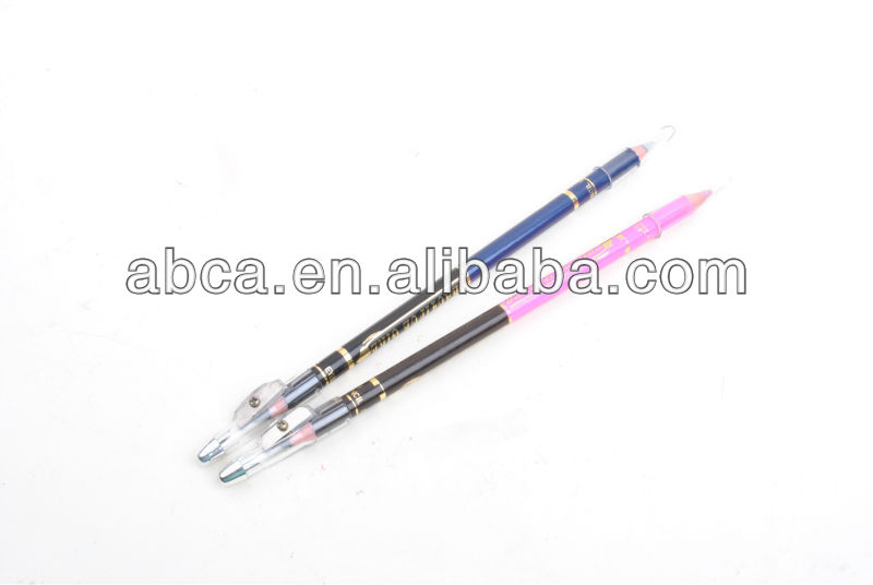 2013 hot selling soft waterproof eyebrow pencil in two colors eyebrow pencil sharpener factory price