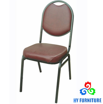 Stackable Leather Banquet Chairs Metal Dining Whole