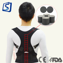 GANGSHENG Neoprene Adjustable lumbar back brace to help posture improve device Clavicle Support Corrector Belt