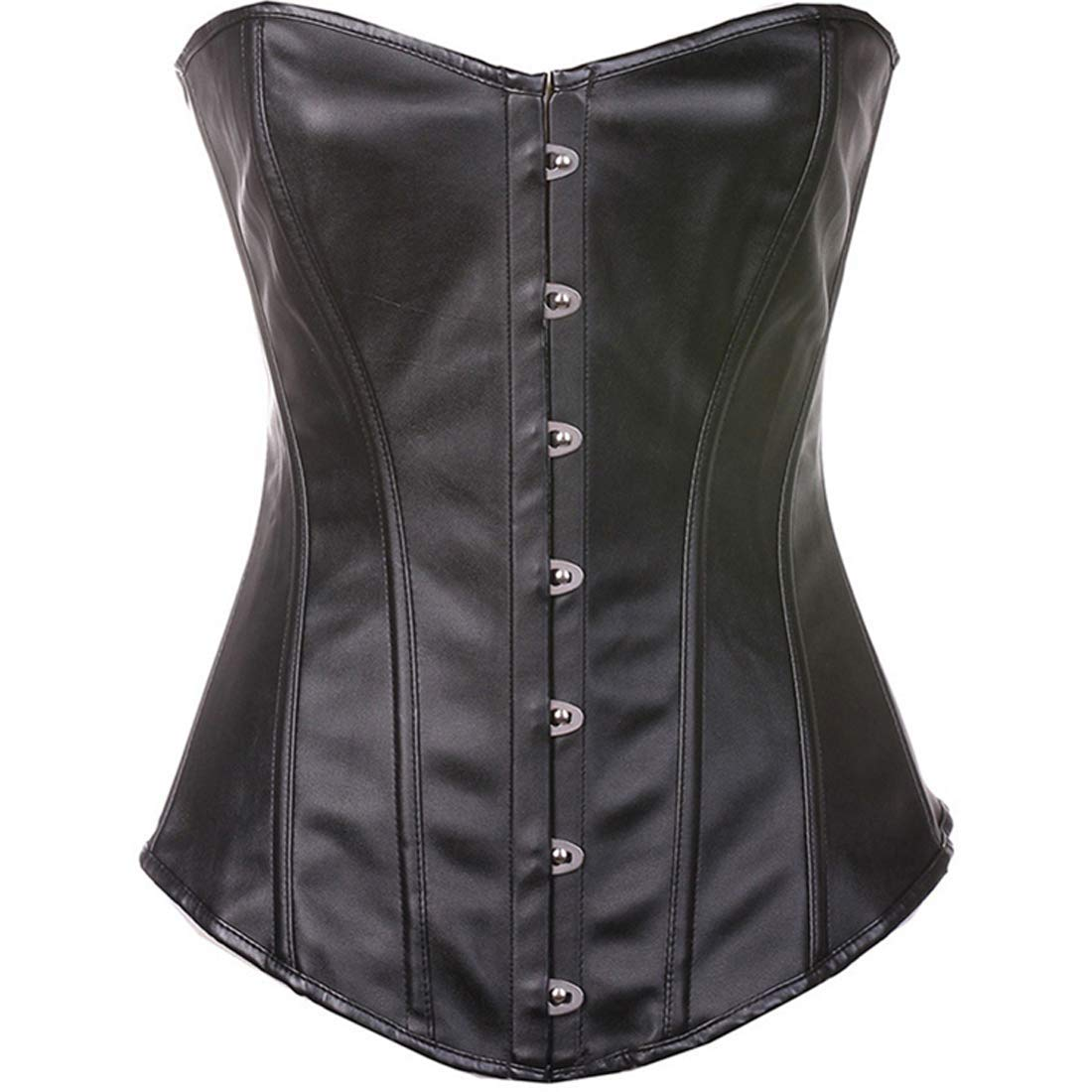 08efc5ada4b Get Quotations · Keldorng Womens Steampunk Gothic Faux Leather Zipper Front Corset  Steel Boned Costume Plus Size Corset
