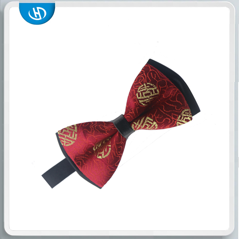 Colorful Stick Out Stripe Cotton Wood Bow-Tie Mens