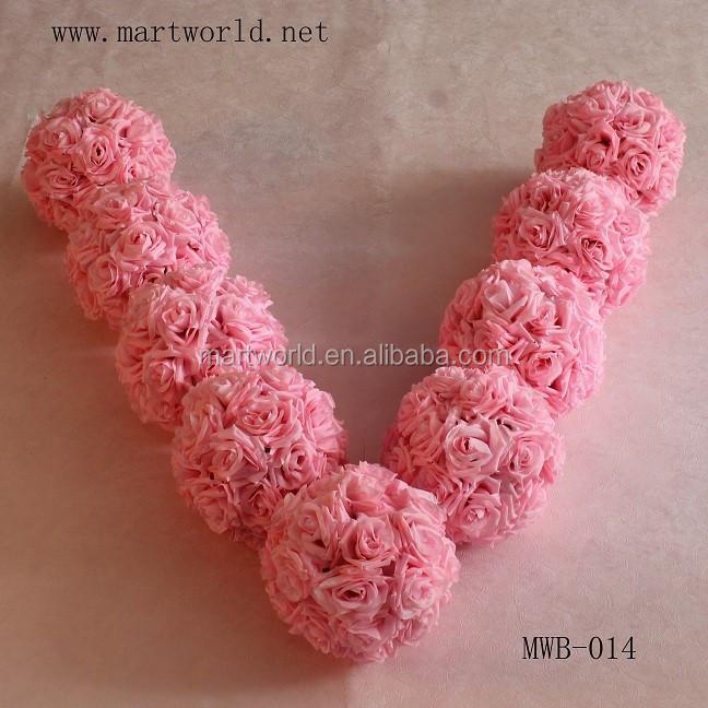 Beautiful wholesale artificial pink rose flower ball for wedding img5519g img5534g junglespirit Choice Image