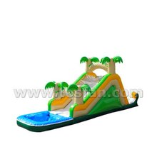 Commercial grade children playland inflatable water slide with small pool A4077