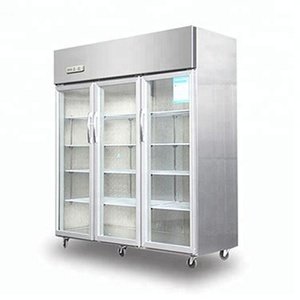 Commercial Stainless Steel glass door Upright Fridge/used freezer