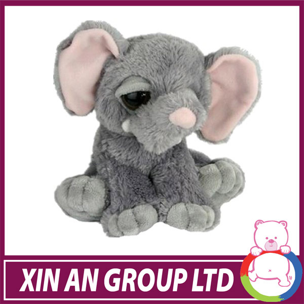 ICTI SEDEX BSCI high quality peluche stuffed elephant with extra long trunk