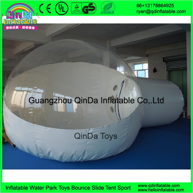 Outdoor sea sunshine clear inflatable lawn tent PVC transparent inflatable bubble tent camping