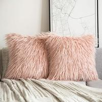 Fast Delivery Living Room Sofa Couch Fur Throw Pillow Cover Custom Cushion Cover