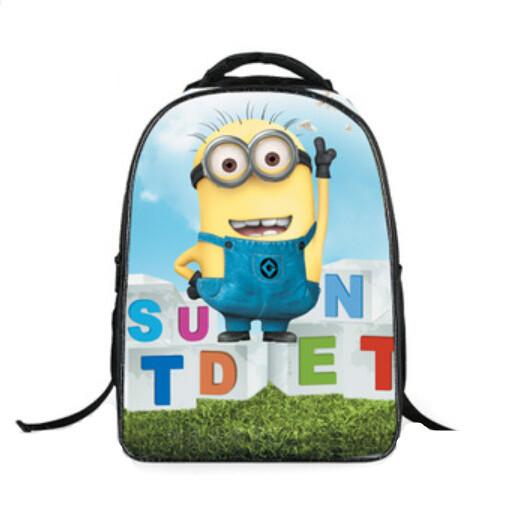 4cb0d23918a2 Get Quotations · cartable minion school bags minions character book bags  kids backpacks kindergarten school bag boy waterproof cartoon