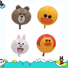 Cartoon Animal Model Helium Foil Balloons