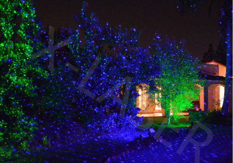 Superior New Design Competitive Price Blue Static Firefly Garden Laser Light From  X Laser Bliss Light