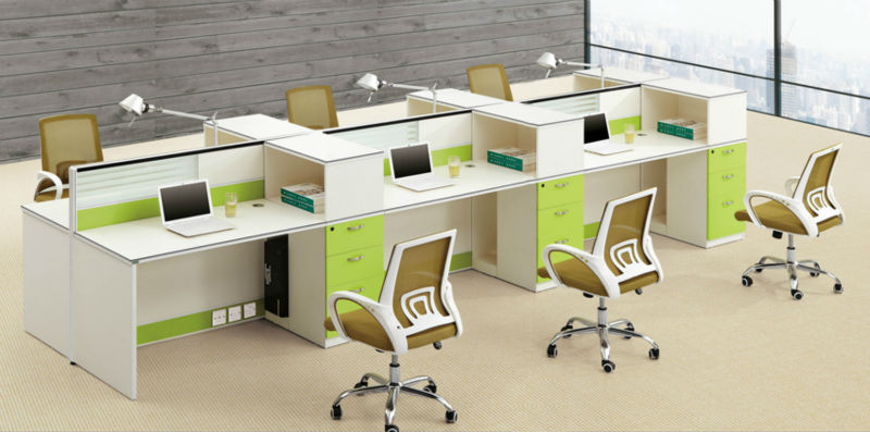 Office Workstation Furniture,4 Sections Office Cubicles,Office