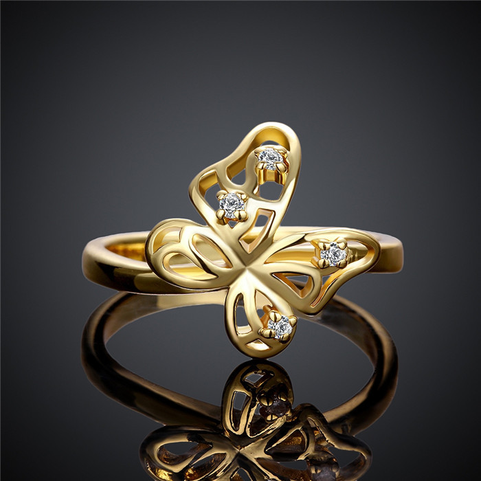 Wholesale Alibaba New Design Finger Butterfly Gold Ring Designs ...
