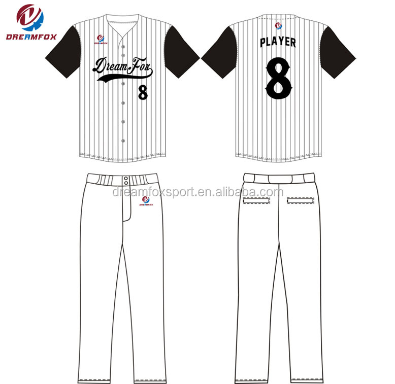 Blank Baseball Jersey Template Custom Oem Design Baseball Team ...