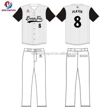 Blank Baseball Jersey Template Custom Oem Design Team Shirts Mesh Polyester Shirt Printing