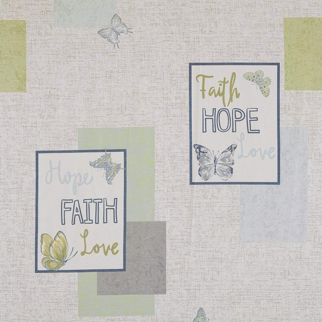 Madison Park Faith, Hope, Love Shower Curtain