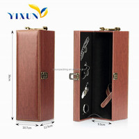 Wholesale cheap unfinished handmade wooden wine box for single bottle
