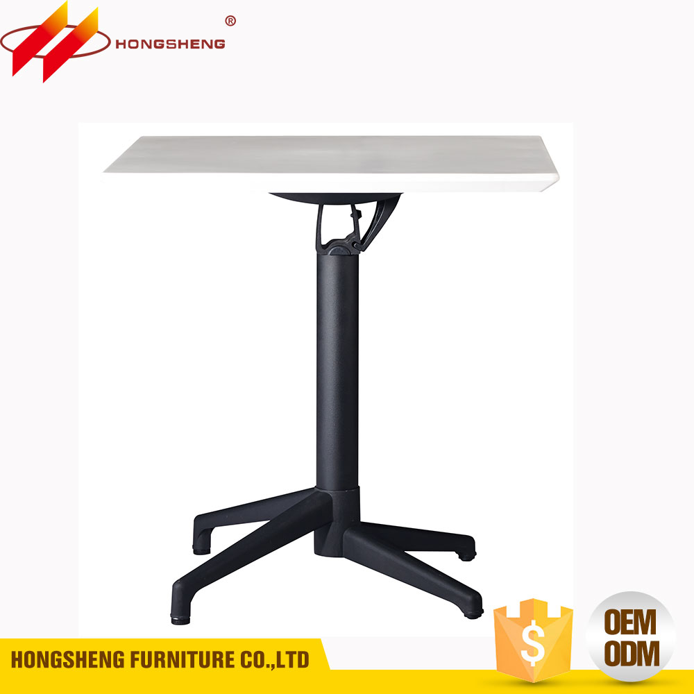 aluminum paint feet small plastic folding tea table with ABS plastic top