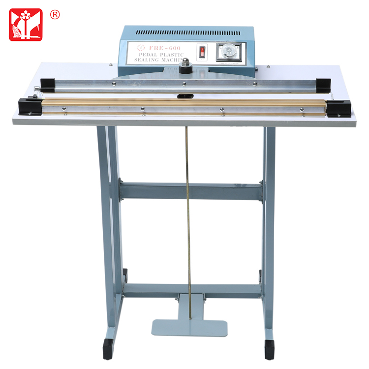 Foot sealer machine sealing