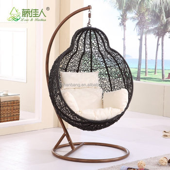 Australia Patio Balcony Living Room Rattan Outdoor Single Seat Swing Chair