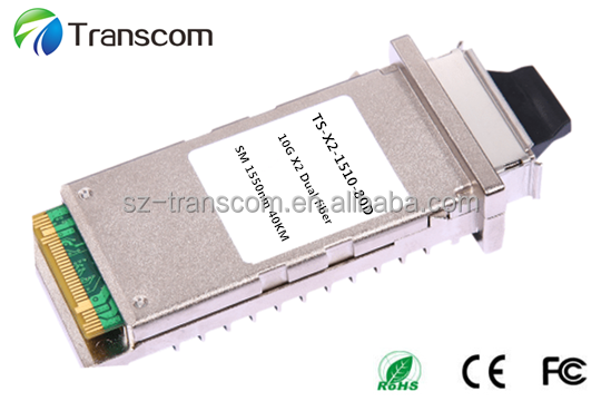 Fiber optic 80km 1550nm ZR transceiver 10Gb/s X2 Module