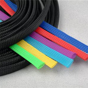 Made in China 1:1 shrinkage rate pet expandable braided sleeving