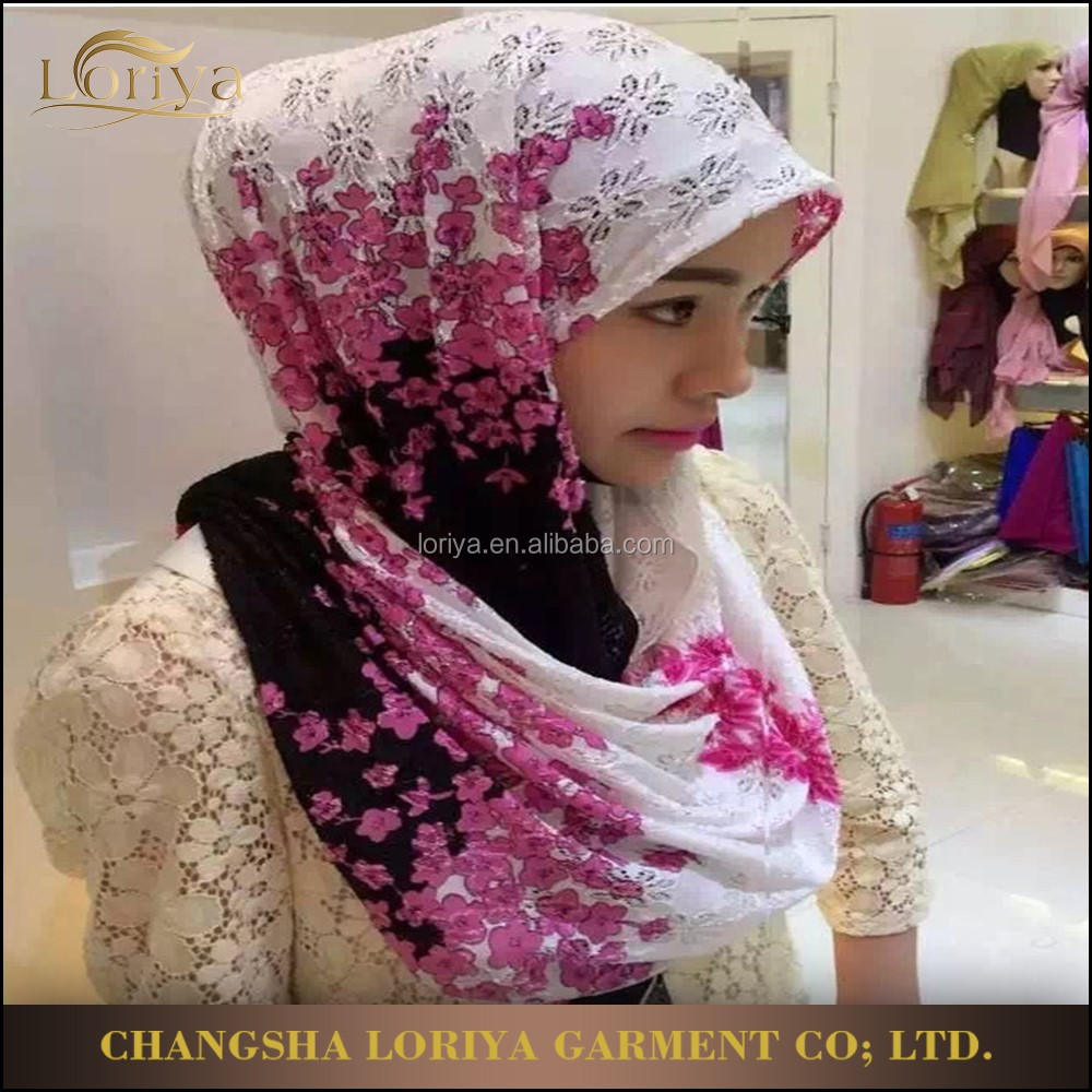 Muslim hijab shawl popular latest hot sale multicolor islamic women chiffon scarf hijab