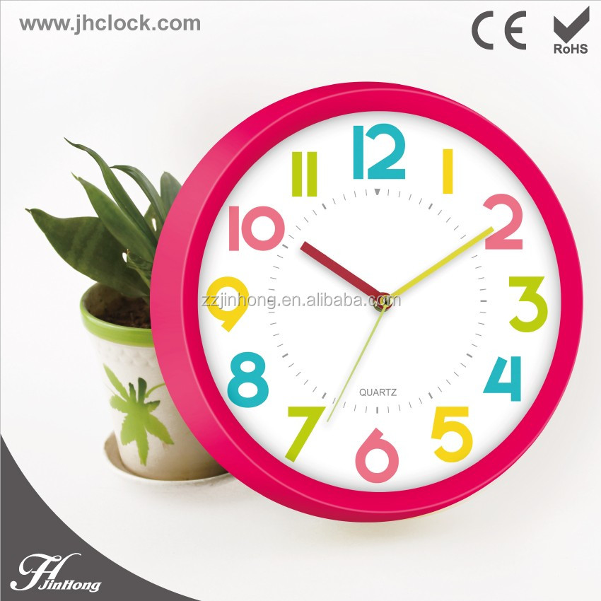 Kids Room Mute Sweep movement Wall Clock/ Silent Table Wall Clock for kinds