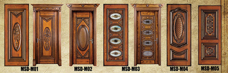 Modern carved exterior solid wood door polish color, View wood doors ...