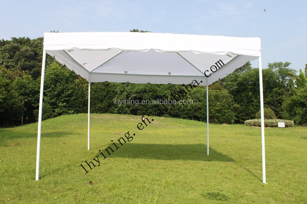 quick fixed polyester outdoor patio garden shade pavilion canopy gazebo tents 3x3m