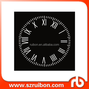 new design-clock-clock face wall decal roman numerals time wall