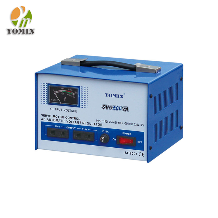 Manufacturer YMSVC-1 Single Phase Servo Motor Stabilizer , Automatic Power Stabilizer 1000VA /