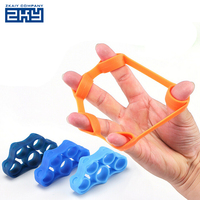 Physical Therapy Crossfit Rubber Finger Held Trainer Stretcher Leather Strengthener Exercise Equipment Machine Hand Grips