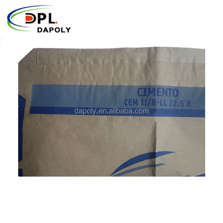 25kg 50kg Recyclable Feature Brown kraft Paper Bags For Cement