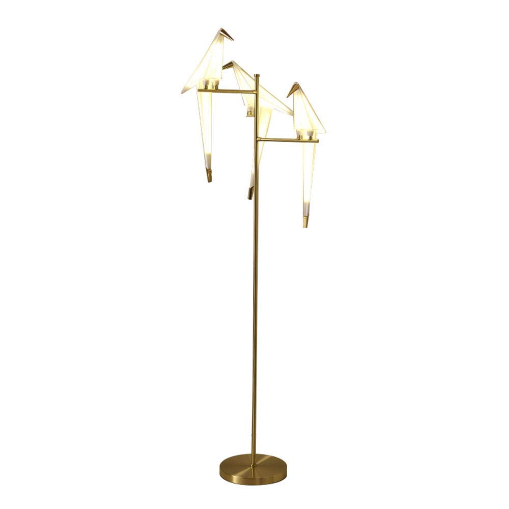 MGLDD Post-modern Bird Floor Lamp Nordic Creative Simple LED Lamp For Study Bedroom Living Room 6W (Size : B:52x165cm)