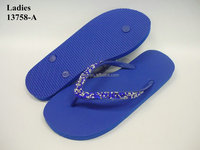promotion blue slippers women flip flops