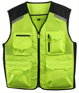Custom High Vis Reflective Safety Motorcycle vest