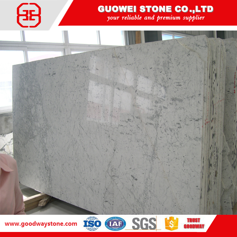 Italian wall covering crushed white marble stone