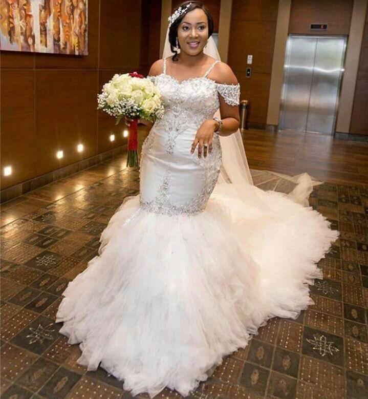 Shoulder Mermaid Wedding Dresses Lace